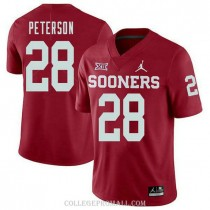 Mens Adrian Peterson Oklahoma Sooners Jersey #28 Jordan Brand Authentic Red College Football Jersey