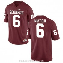 Mens Baker Mayfield Oklahoma Sooners Jersey #6 Authentic Red College Football Jersey