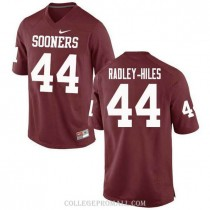 Mens Brendan Radley Hiles Oklahoma Sooners Jersey #44 Authentic Red College Football Jersey