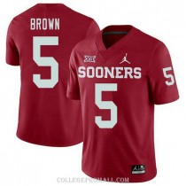 Mens Marquise Brown Oklahoma Sooners Jersey #5 Jordan Brand Authentic Red College Football Jersey