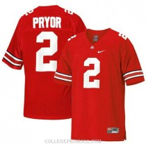 Mens Terrelle Pryor Ohio State Buckeyes Jersey #2 Authentic Red College Football Jersey
