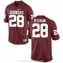 Womens Adrian Peterson Oklahoma Sooners Jersey #28 Game Red College Football Jersey.jpg