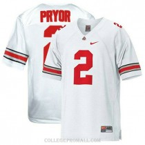 Womens Terrelle Pryor Ohio State Buckeyes Jersey #2 Limited White College Football Jersey